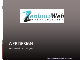 ZealousWeb Technologies UK: Professional Web Design firm