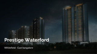 Prestige Group 2 BHK Apartments in Bangalore Waterford