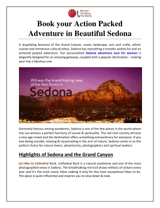 Book your Action Packed Adventure in Beautiful Sedona