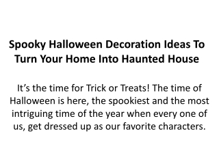 Spooky Halloween Decoration Ideas To Turn Your Home Into Haunted House