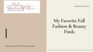 My Favorite Fall Fashion & Beauty Finds