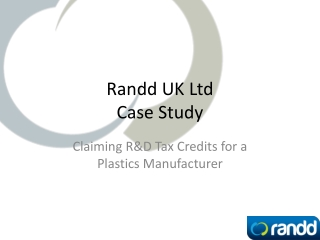 R&D Tax Credits Plastics Presentation