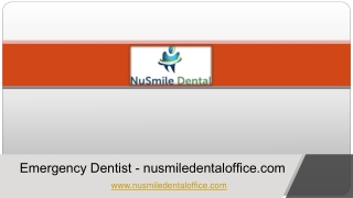 Emergency Dentist - nusmiledentaloffice.com