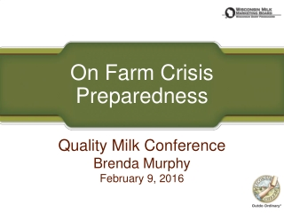 On Farm Crisis Preparedness