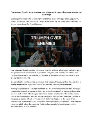 Triumph Over Enemies