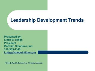 Leadership Development Trends