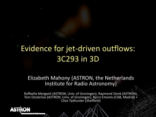 Evidence for jet-driven outflows : 3C293 in 3D