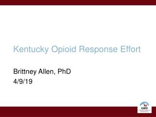Kentucky Opioid Response Effort