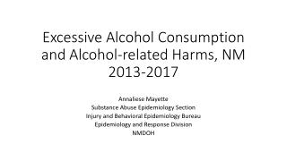 ALCOHOL CONSUMPTION SITUATION