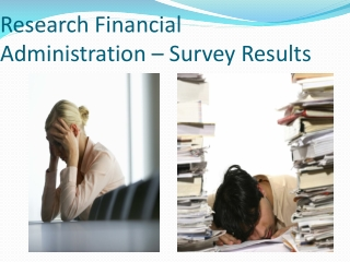 Research Financial Administration – Survey Results