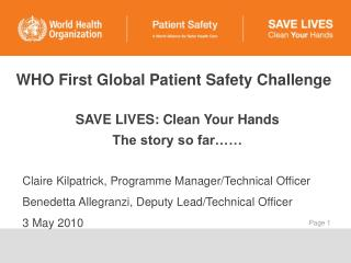 WHO First Global Patient Safety Challenge