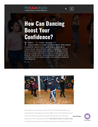 How Can Dancing Boost Your Confidence?