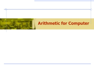 Arithmetic for Computer