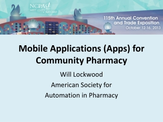 Mobile Applications (Apps) for Community Pharmacy