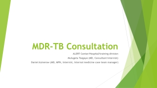 MDR-TB Consultation