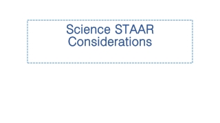 Science STAAR Considerations