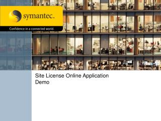 Site License Online Application Demo