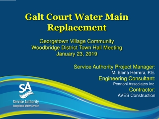Galt Court Water Main Replacement