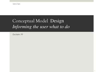 Conceptual Model Design Informing the user what to do