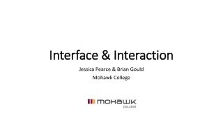 Interface & Interaction