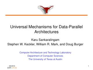 Universal Mechanisms for Data-Parallel Architectures