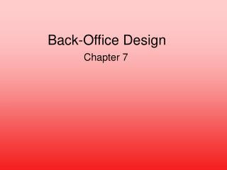 Back-Office Design