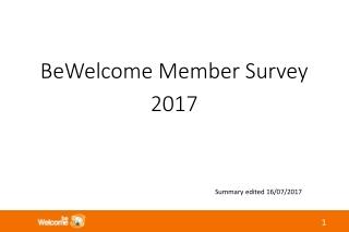 BeWelcome Member Survey 2017