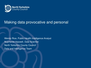 Making data provocative and personal