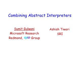 Combining Abstract Interpreters