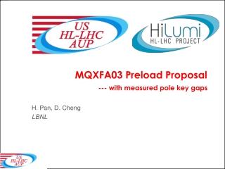 MQXFA03 Preload Proposal