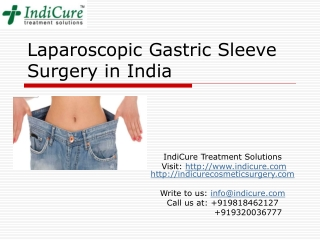 Laparoscopic Gastric Sleeve Surgery in India