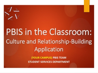 PBIS in the Classroom: Culture and Relationship-Building Application
