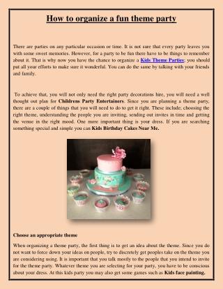 How to organize a fun theme party
