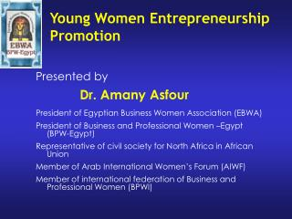 Young Women Entrepreneurship Promotion