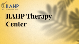 IIAHP Therapy Center