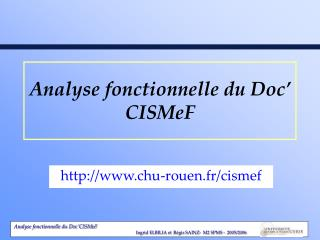 Analyse fonctionnelle du Doc' CISMeF