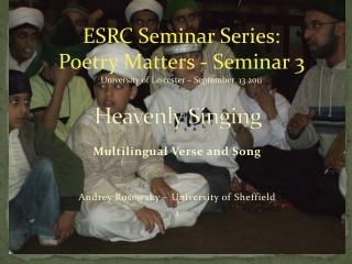 Heavenly Singing