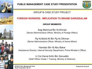PUBLIC MANAGEMENT CASE STUDY PRESENTATION