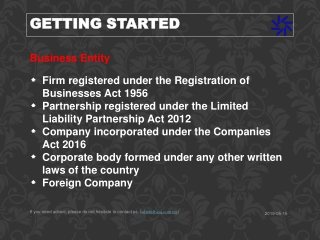 Business Entity Firm registered under the Registration of Businesses Act 1956