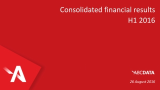 Consolidated financial results H1 2016