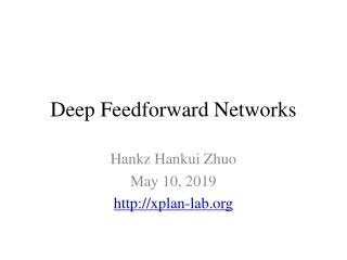 Deep Feedforward Networks