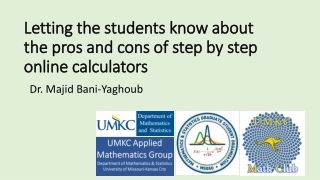 Letting the students know about the pros and cons of step by step online calculators