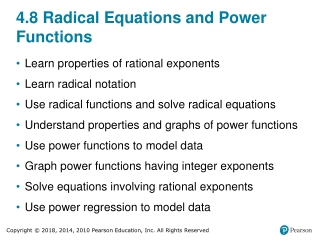 4.8 Radical Equations and Power Functions