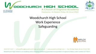Woodchurch High School Work Experience Safeguarding