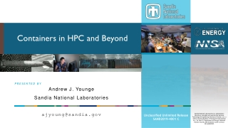 Containers in HPC and Beyond
