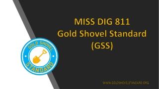 MISS DIG 811 Gold Shovel Standard (GSS)
