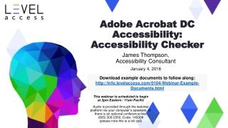 Adobe Acrobat DC Accessibility: Accessibility Checker