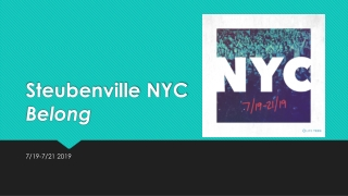 Steubenville NYC Belong
