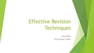 Effective Revision Techniques