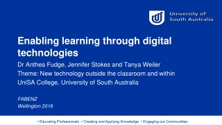 Enabling learning through digital technologies